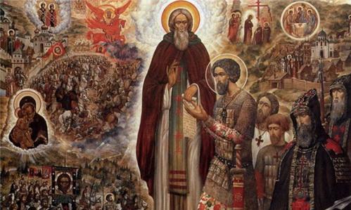Икона «Святые Сергий Радонежский и Дмитрий Донской»