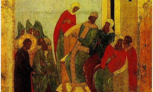 """Икона """"Христос перед Пилатом"""", ок. 1497"""