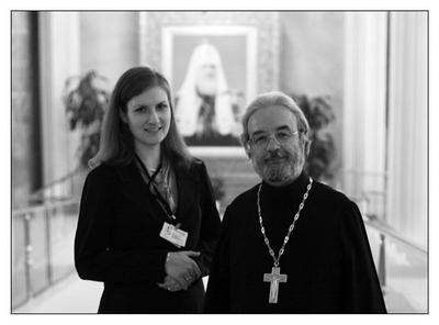 Анна Данилова с прот. Александром Ильяшенко