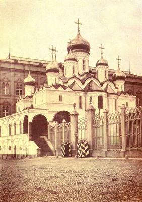 Благовещенский собор. Фотография из альбома Н. А. Найдёнова. Москва, 1883 год.