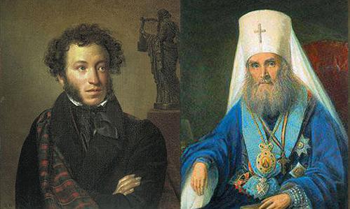 Стихотворная полемика Митрополита Филарета Московского с А.С. Пушкиным