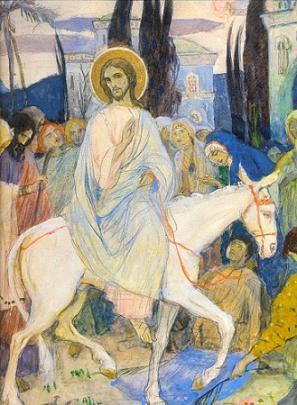 М. Нестеров. Вход Господень во Иерусалим
