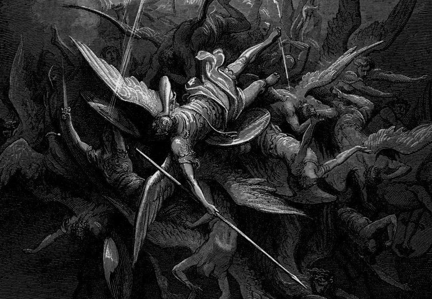 the banishment of satan from hell in the novel paradise lost by john milton